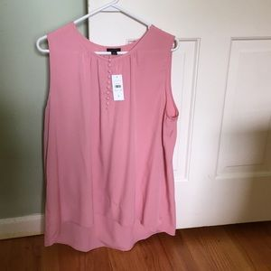 NWT flouncy rose colored tank